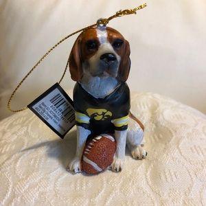 University of Iowa Team Dog Ornament